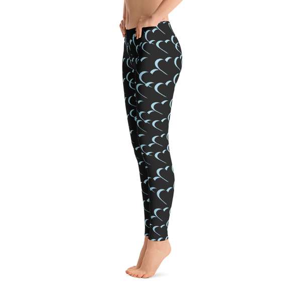 TYFE Black And Blue Hearts Leggings