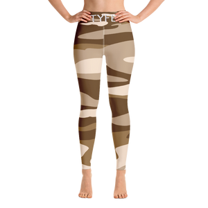 TYFE Brown Camouflage Yoga Sport Leggings