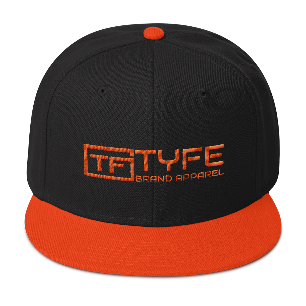 TYFE Black/Orange Snapback Hat V2
