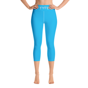 TYFE (Blue) Yoga Capri Sport Leggings
