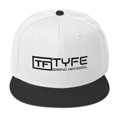 TYFE White/Black Snapback Hat V2