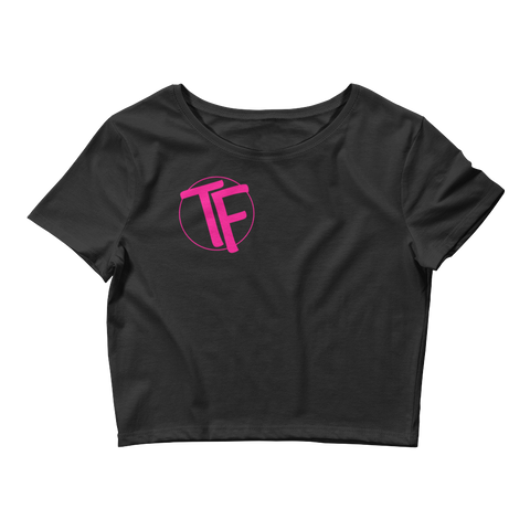 "TYFE Black Series "" Pink"" Women's Crop Tee"