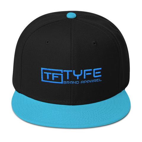 TYFE Black/Teal B-Boy Snapback Hat V2