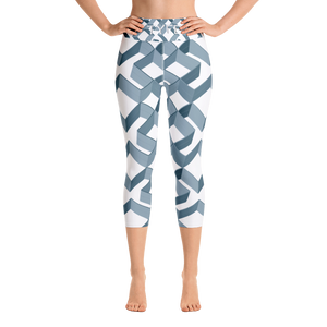 TYFE (White Diamonds) Yoga Capri Sport Leggings