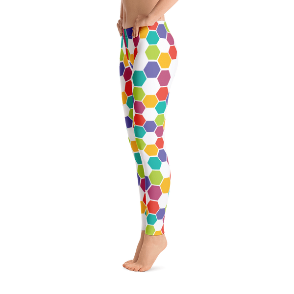 TYFE White And Color Hexagon Leggings