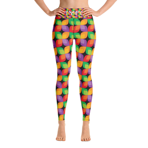 TYFE Black And Color Flowers Yoga Sport Leggings