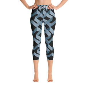 TYFE Black Diamonds Yoga Capri Sport Legging