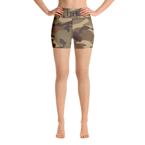 TYFE Green Camouflage Yoga Shorts