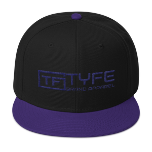 TYFE Black/Purple Snapback Hat V2