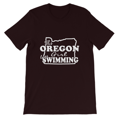 This Oregon Girl Loves Swimming  T-Shirt