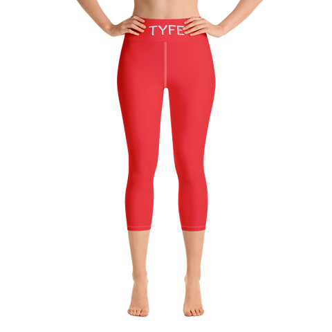 TYFE (Red) Yoga Capri Sport Leggings