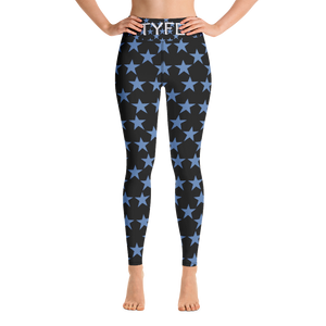 TYFE Black And Blue Stars Yoga Sport Leggings