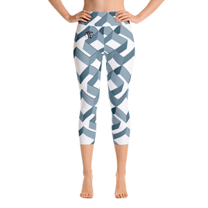 TYFE White Diamonds Yoga Capri Leggings