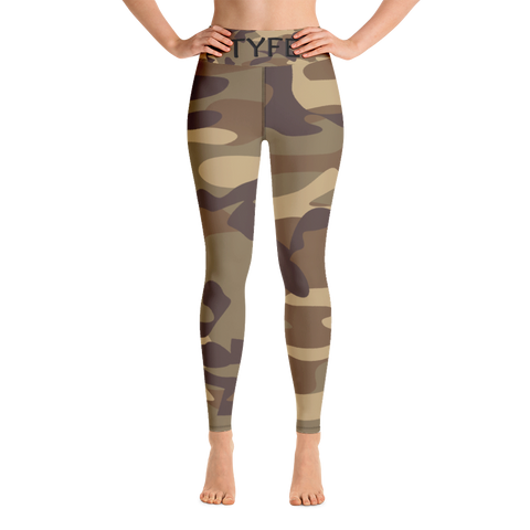 TYFE Green Camouflage Yoga Sport Leggings