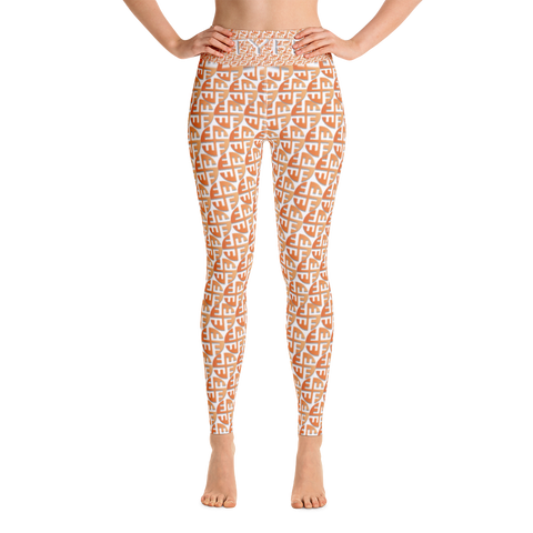 TYFE (Brown Circles) Yoga Sport Leggings