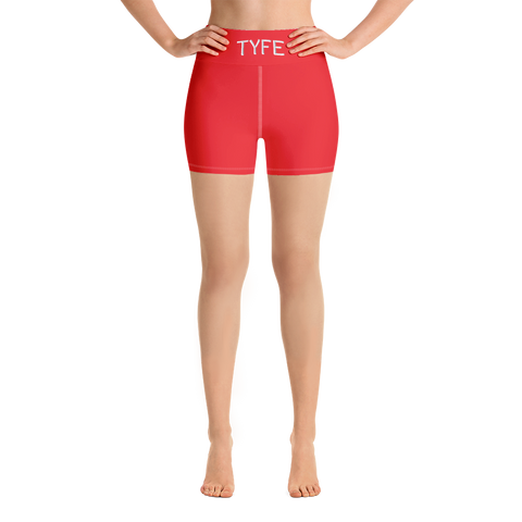 TYFE (Red) Yoga Shorts