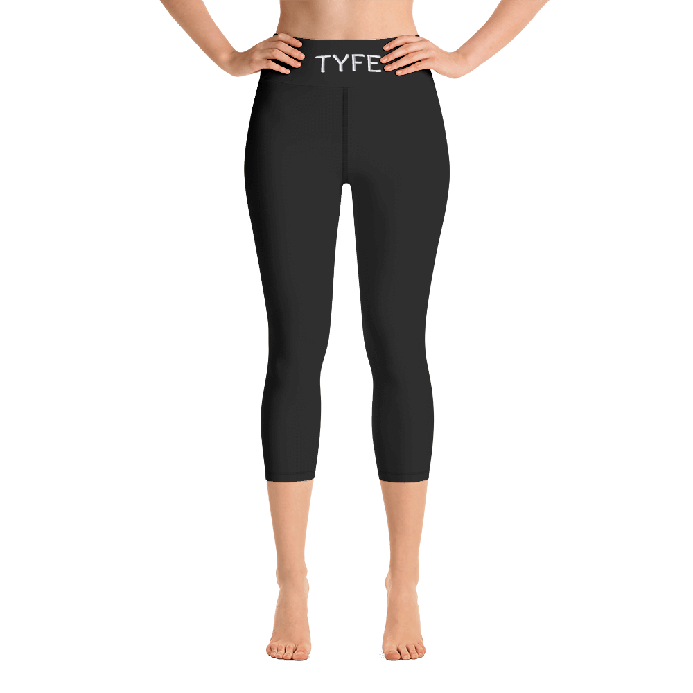 TYFE (Black) Yoga Capri Sport Leggings