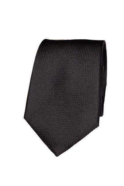 Black Silk Graph Check Tie - Enzo Custom