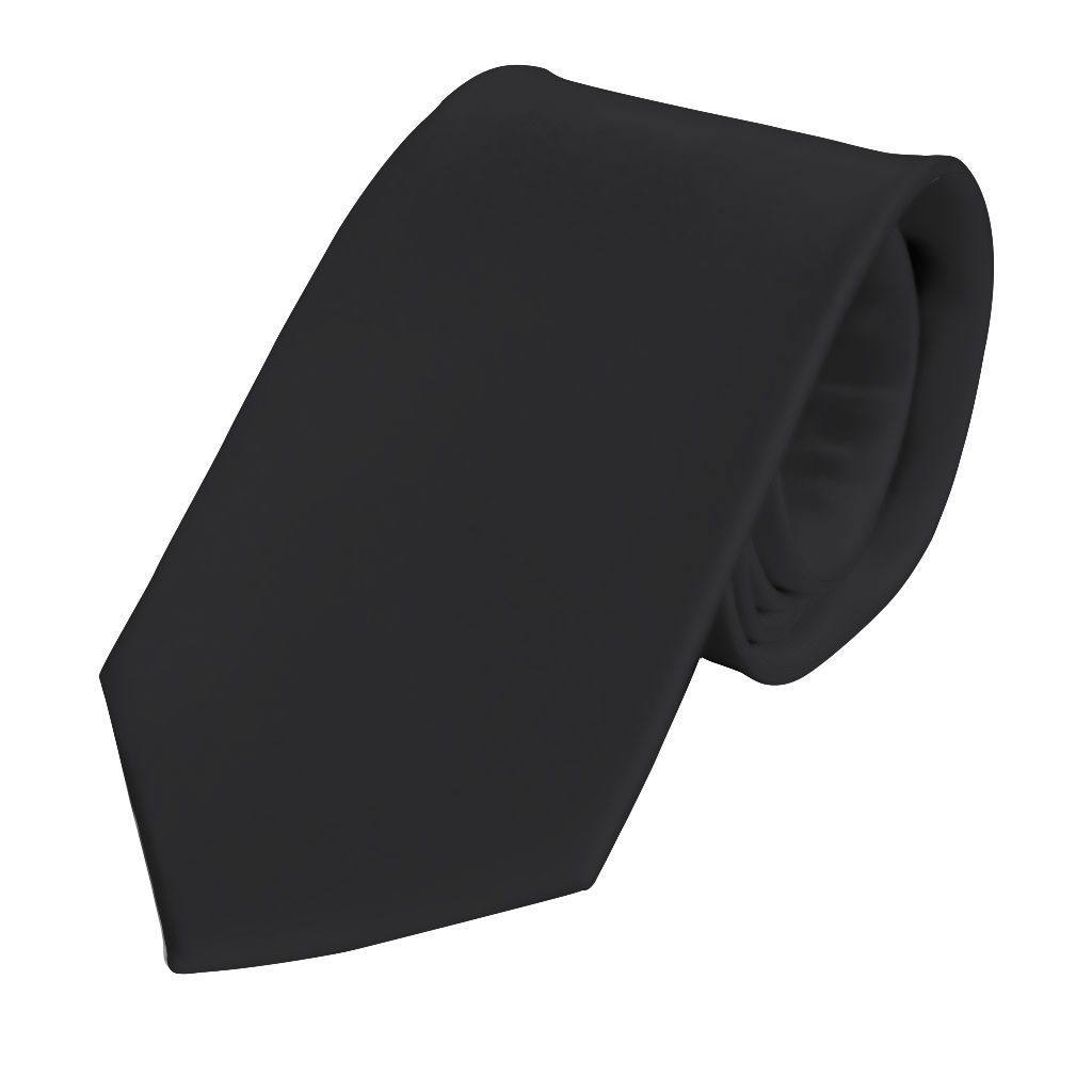 Black Silk Solid Tie - Enzo Custom