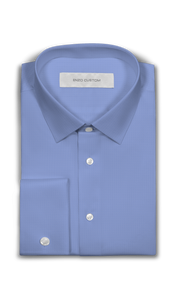 Blue Textured Dress Shirt - Enzo Custom