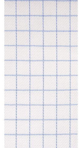 Blue/White Check Dress Shirt - Enzo Custom