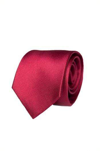 Burgundy Silk Graph Check Tie - Enzo Custom