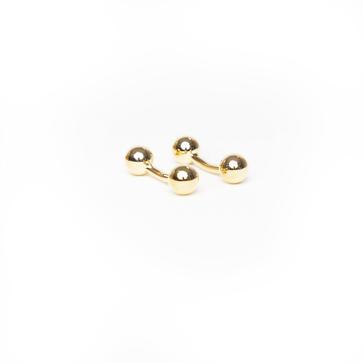 Gold Barbell Cuff Link - Enzo Custom