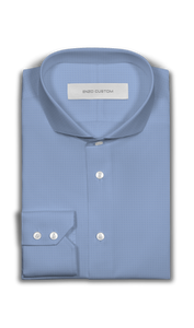 Light Blue Textured Dress Shirt - Enzo Custom