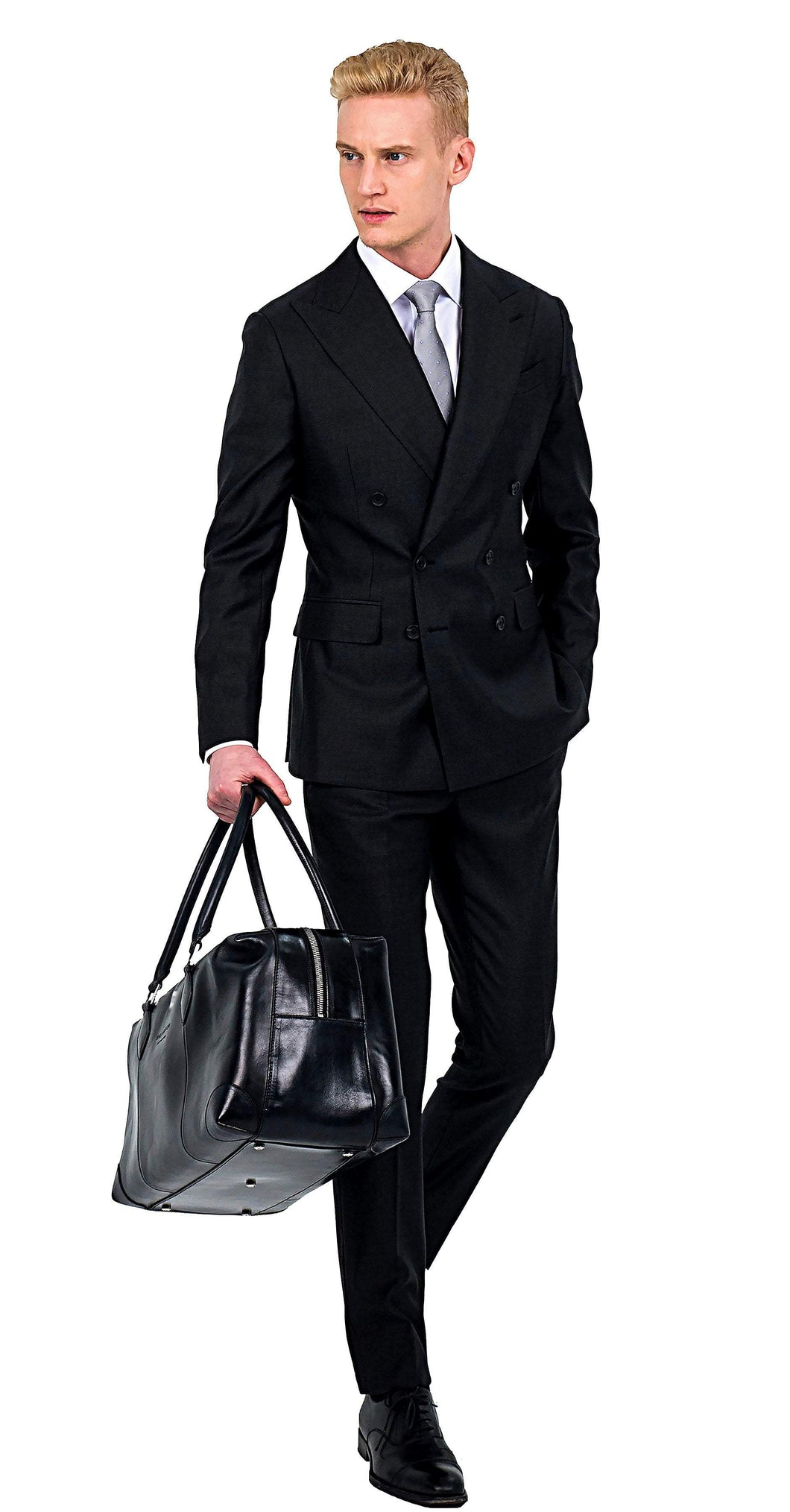 Loro Piana Super 150s Double-Breasted Charcoal Suit - Enzo Custom