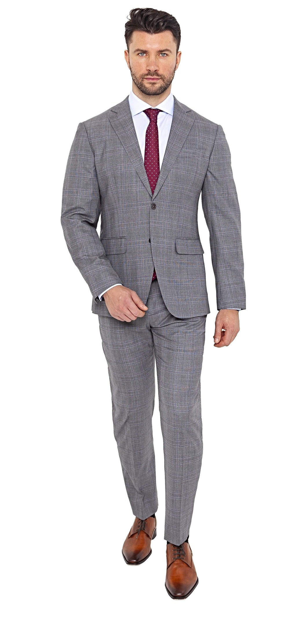 Loro Piana Super 200s Grey Plaid Suit - Enzo Custom