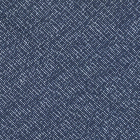 Navy Silk Check Tie - Enzo Custom