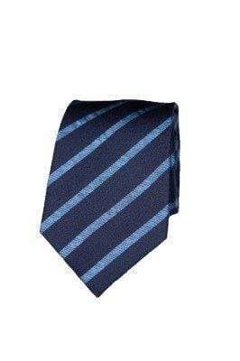 Navy Silk Stripe Tie - Enzo Custom