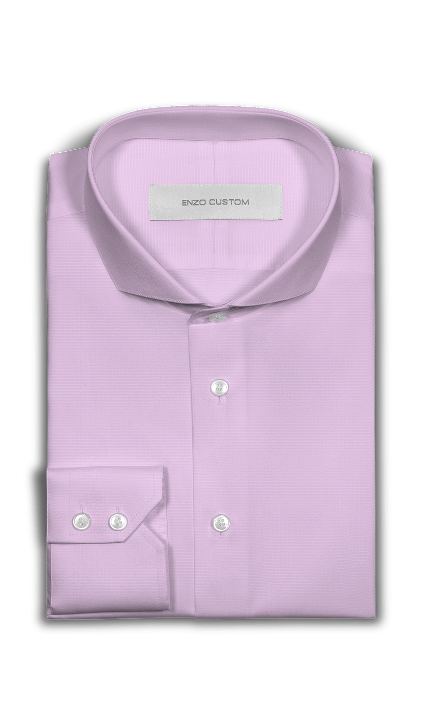 Pink Textured Dress Shirt - Enzo Custom