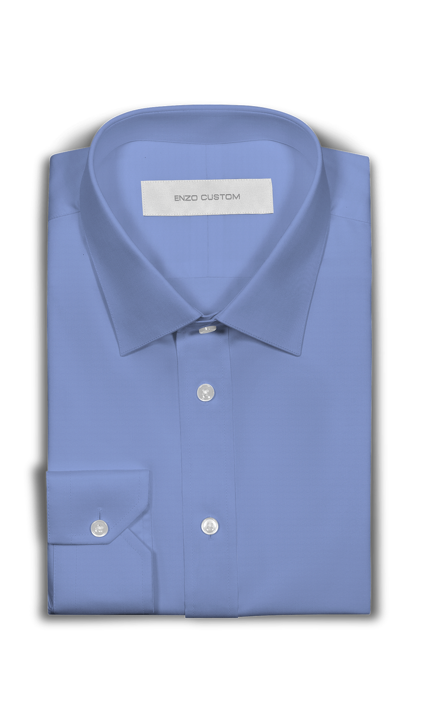 Powder Blue Dress Shirt - Enzo Custom