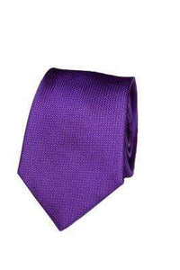 Purple Silk Graph Check Tie - Enzo Custom