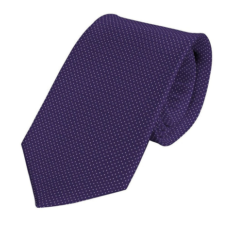 Purple Silk Pin Dot Tie - Enzo Custom