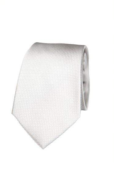 Silver Silk Graph Check Tie - Enzo Custom