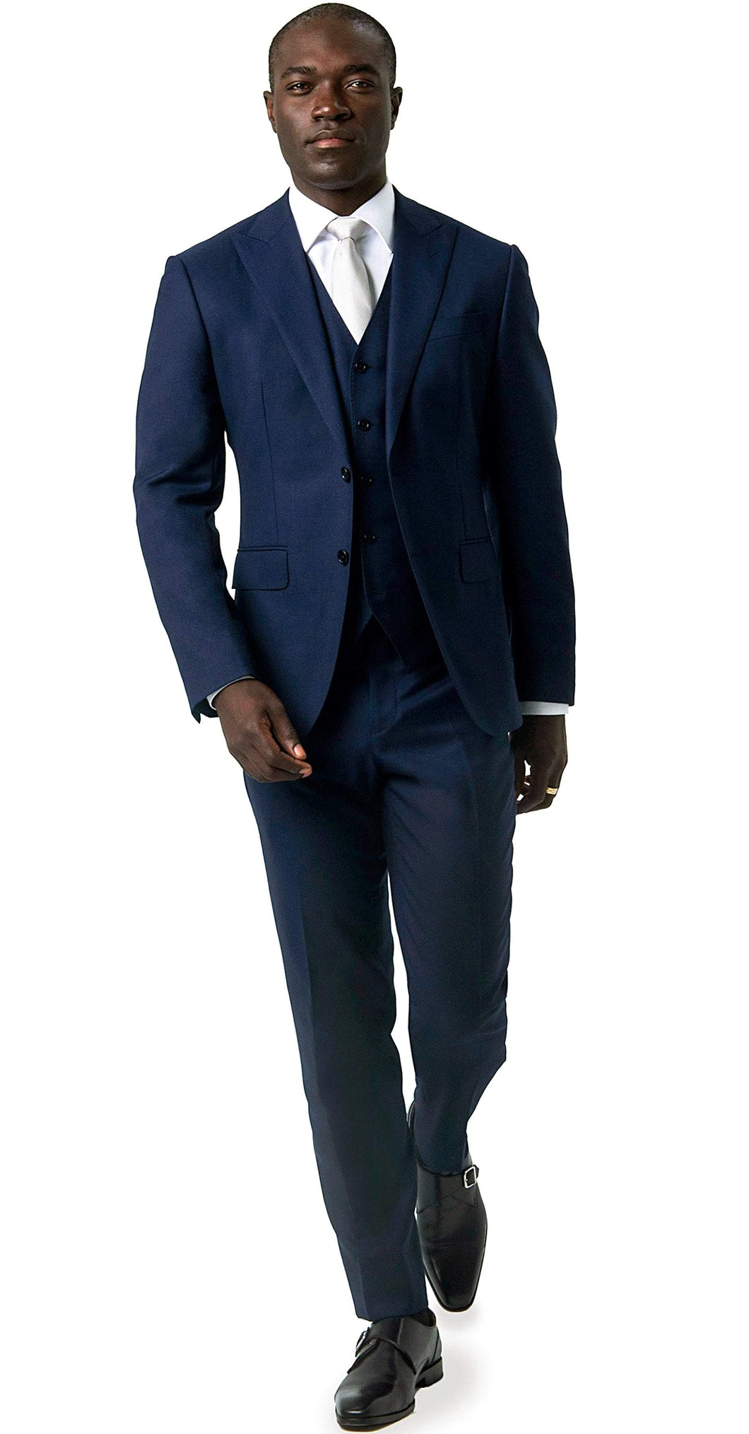 Signature Suit Super 120s 3-Piece Blue Suit