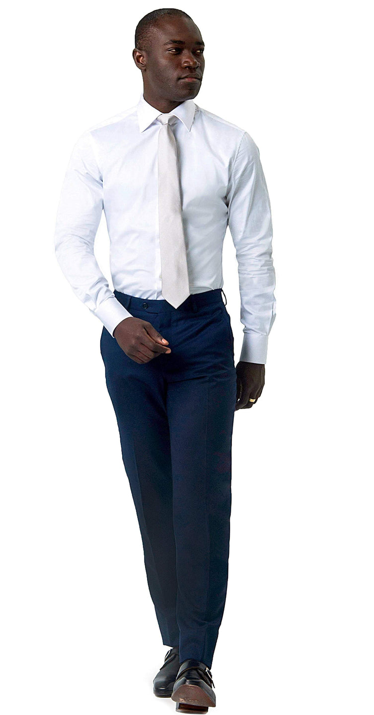 Signature Trousers Super 120s Blue Trouser