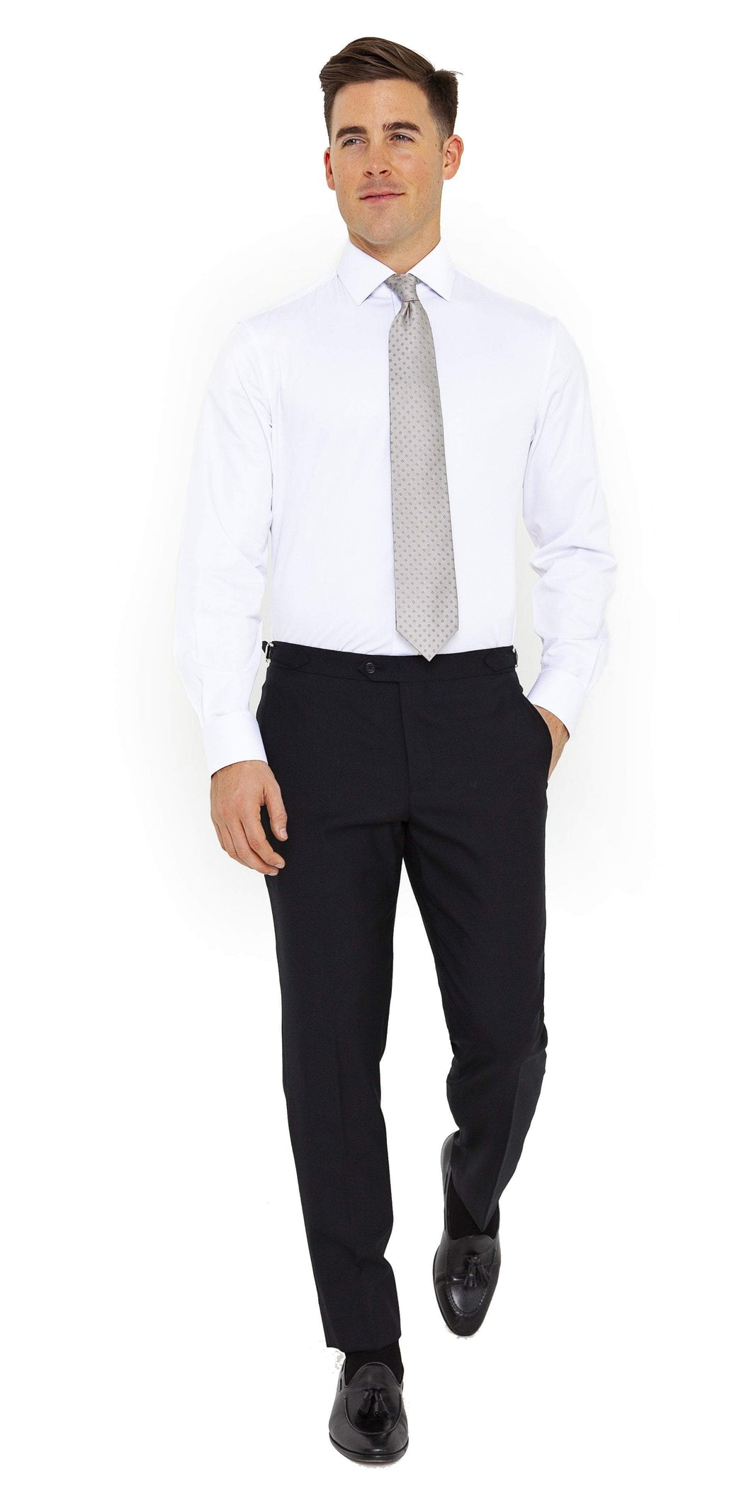 Signature Trousers Super 120s Solid Black Trouser