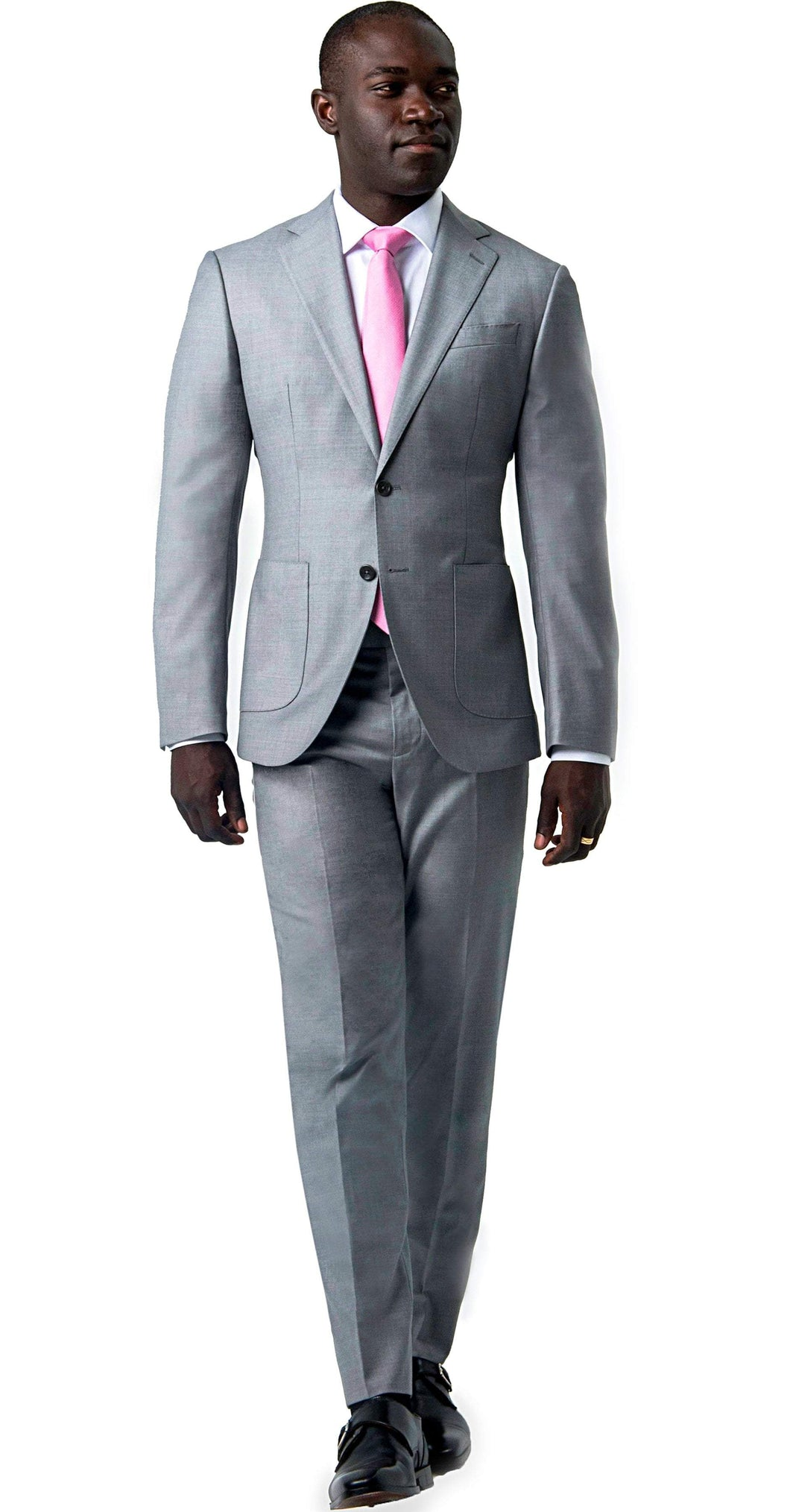 Tasmanian Super 150s Light Grey Suit - Enzo Custom