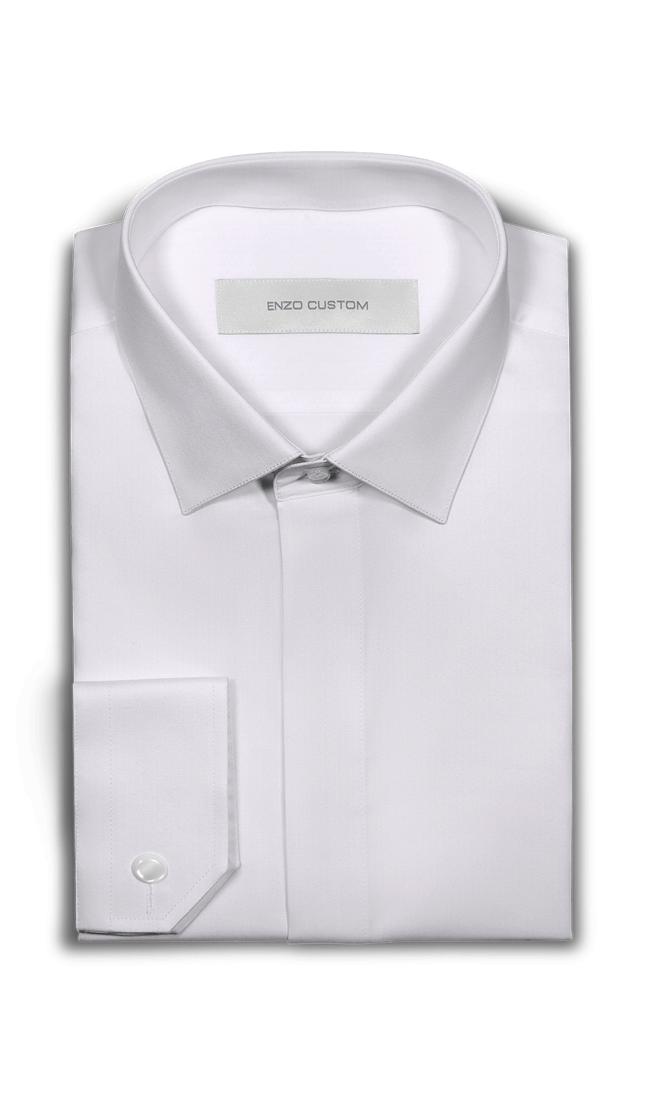 White Bamboo Blend Dress Shirt - Enzo Custom