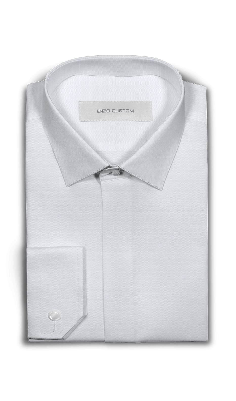 Ermenegildo Zegna Shirt White Textured Dress Shirt