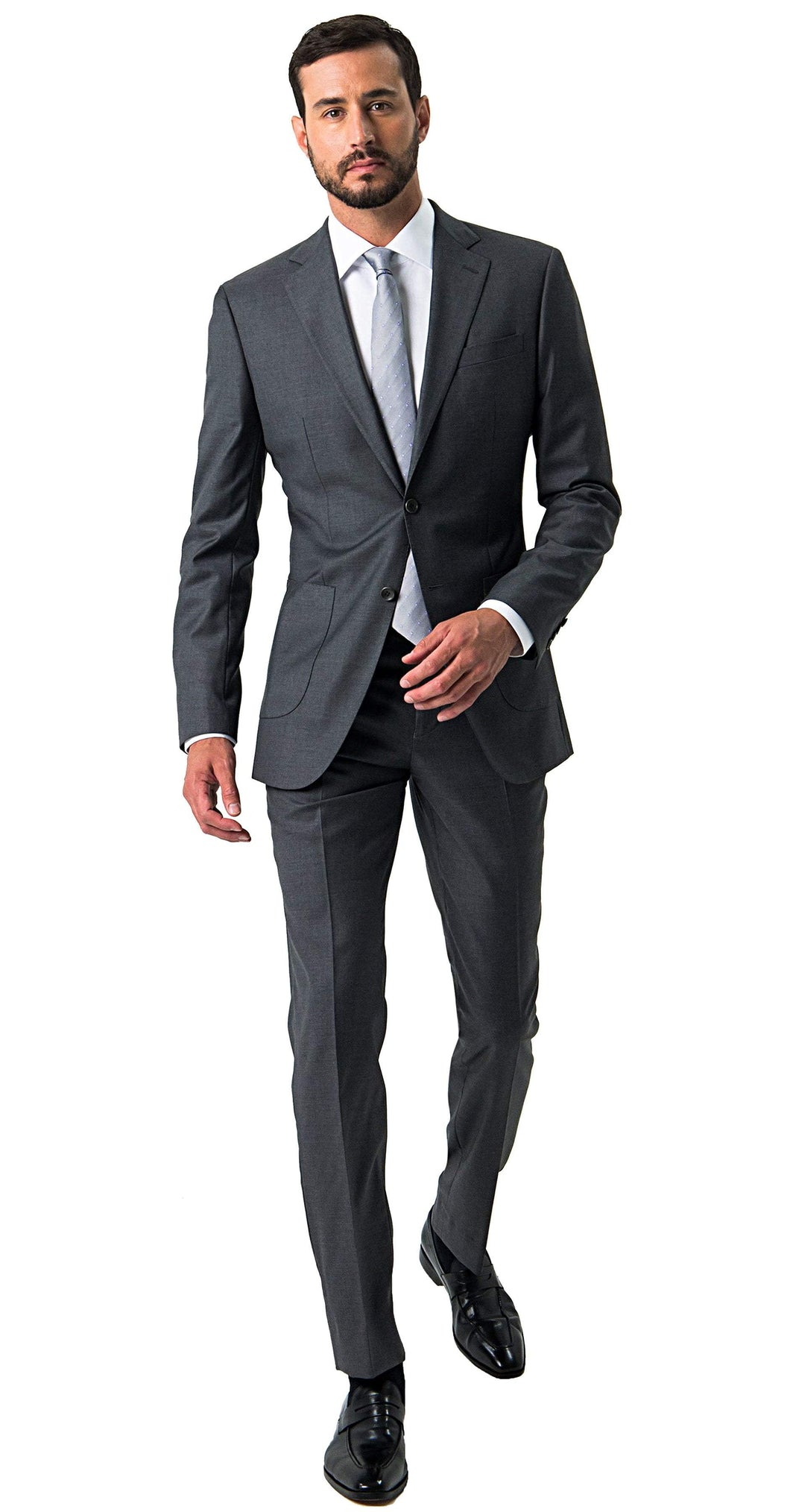 Loro Piana Suit Wish Super 170s Grey Suit