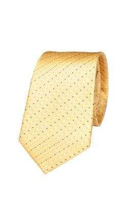 Yellow Silk Diamond Seven Fold Tie - Enzo Custom