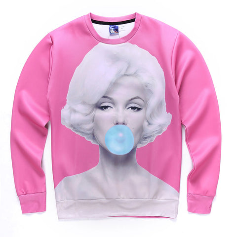 Marilyn Monroe Bubble gum Sweatshirts