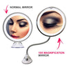 Flexible Light Up Mirror 10X magnification 360-Degree Rotating Makeup Mirror