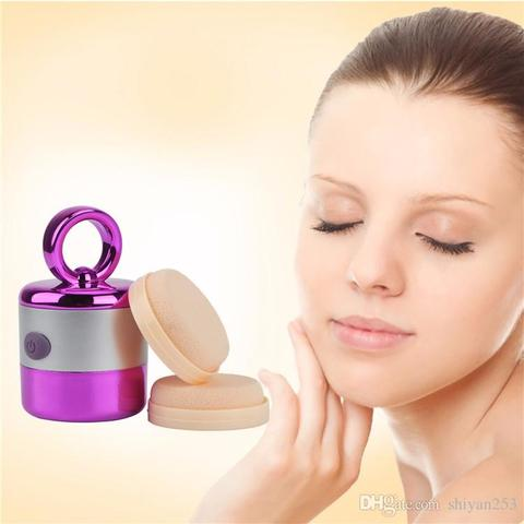 Vibrating Powder Puff Makeup Foundation Applicator