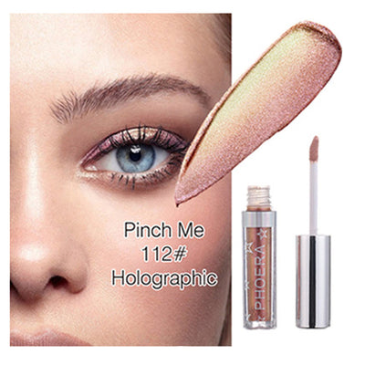 PHOERA 12 Color Metals Glitter and Glow Liquid Eyeshadow