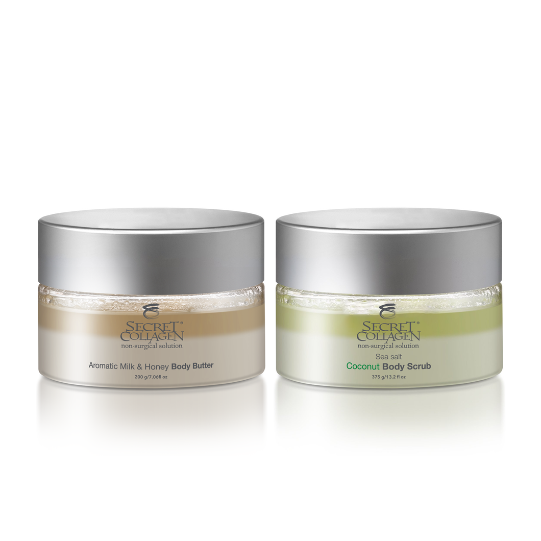 Moisturizing & Exfoliating Bio-Organica Body Butter & Scrub - Secret Collagen